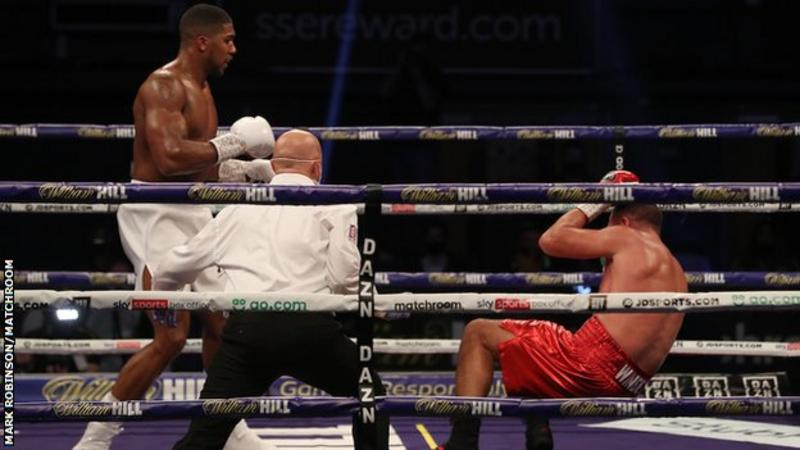 Joshua finally saw off the game Pulev with a hard right hand in round nine