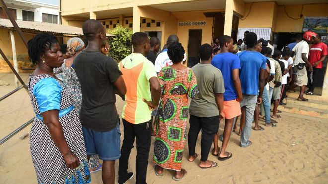 Togolese people voted on Saturday for their new president
