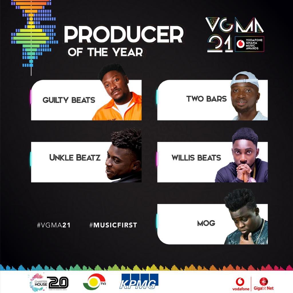 Full list of VGMA 2020 nominees