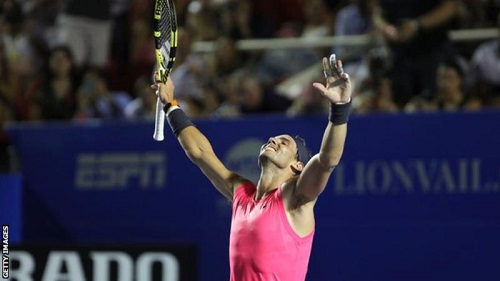 Rafael Nadal has won every set on his way to a third Mexican Open title