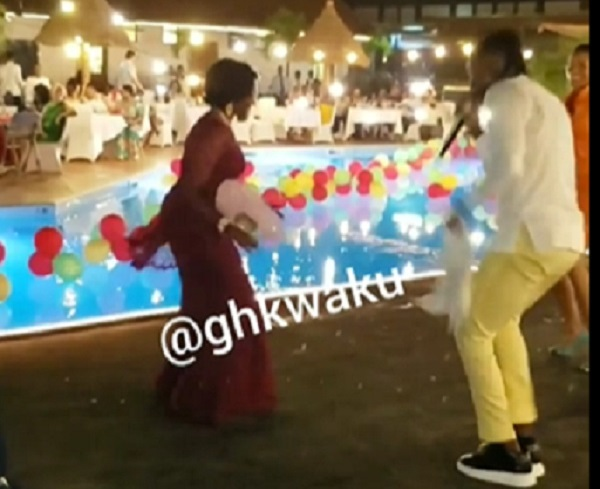 "Mrs. Rawlings and her MP daughter hit the dance floor to dance to Stonebwoy's ""Bawasaaba"""