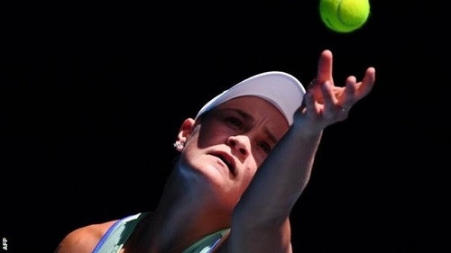 Ashleigh Barty sealed her place in the last four with an ace