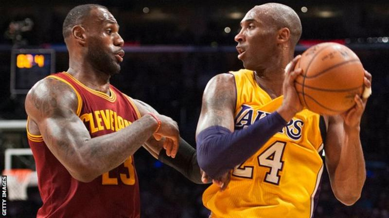 LeBron James came up against LA Lakers legend Kobe Bryant while playing for Cleveland Cavaliers