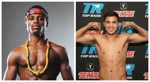 Isaac Dogboe (left) Chris Avalos (right)
