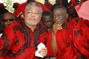 Rawlings (left) and Atta Mills (right)