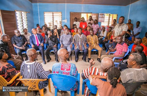 The Volta Region Parliamentary Caucus met with the family of the late Assemblymember