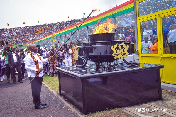 President Akufo-Addo at the 63rd Independence parade