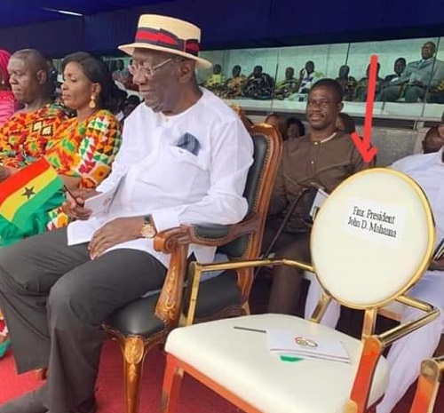 Mahama's seat near Kufuor is empty