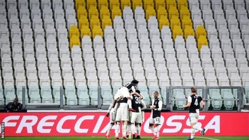 Juventus had no fans to celebrate with when they scored against Inter Milan at the weekend