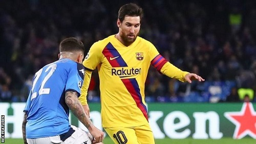 Barcelona drew 1-1 with Napoli in the first leg of their last-16 tie