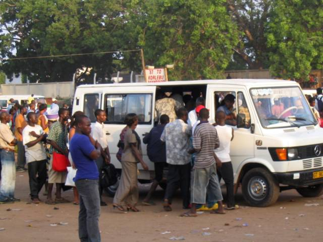 Commercial vehicle in Ghana (trotro)