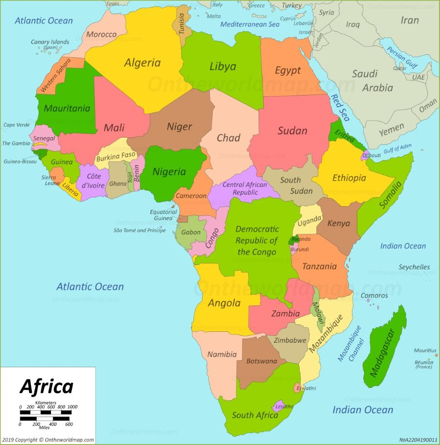 Map If Africa Africa to lose $110bn in three months over Covid 19   African