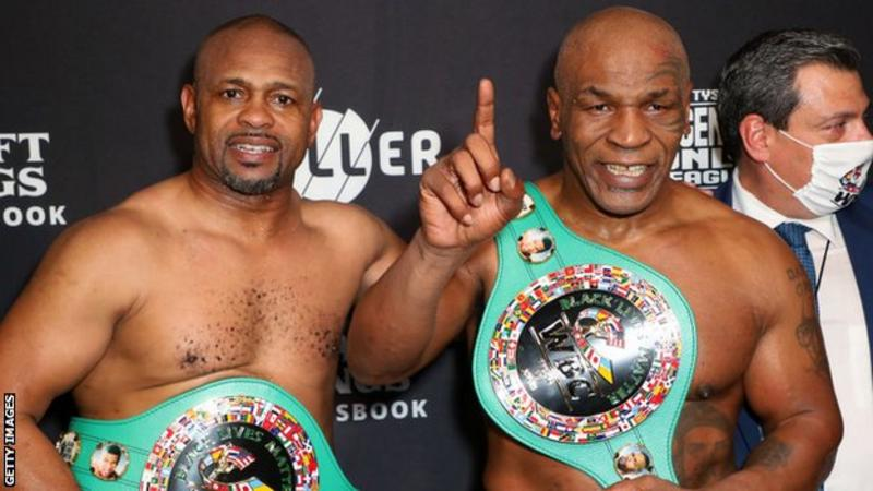 Tyson and Jones were said to have drawn after eight, two-minute rounds