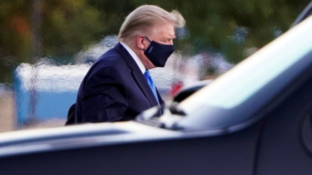 Donald Trump arrives at Walter Reed National Military Medical Center