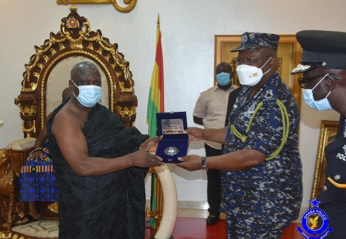 Otumfuo and IGP James Oppong Boanuh