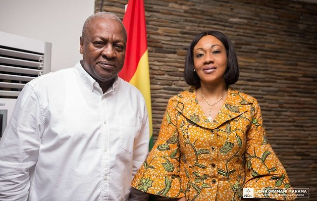 John Mahama and EC boss Jean Mensa