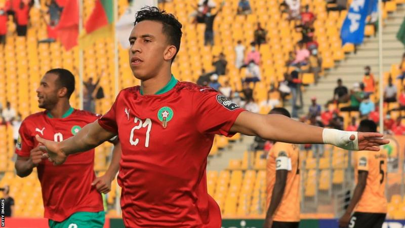 Morocco's Soufiane Rahimi is the leading scorer at the 2020 CHAN with five goals so far