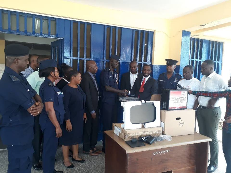 The Junction Mall donates computer to Kpeshie Divisional Police