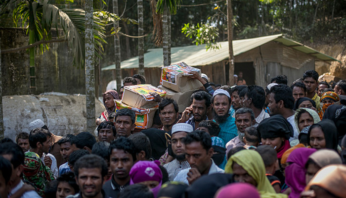About 50,000 Rohingya muslims fleeing violence in Myanmar