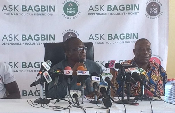 Alban Bagbin adressing the Press