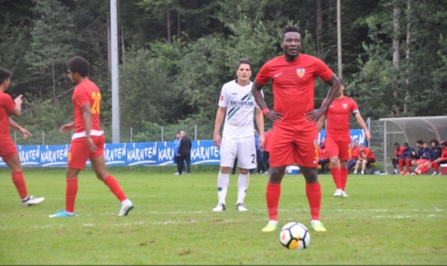Asamoah Gyan scored one goal in 12 appearances for Kayserispor