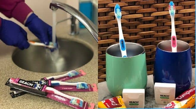 Coronavirus safe toothbrushes