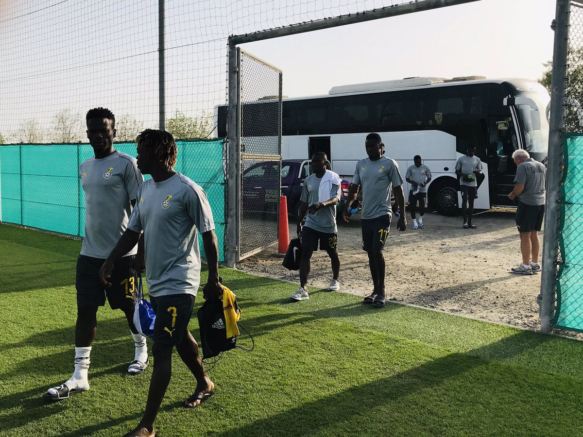 Atsu leads the other contingent for training