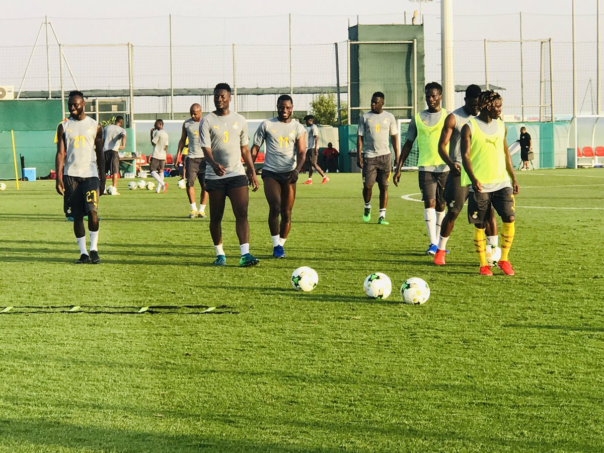 Black Stars training in Dubai