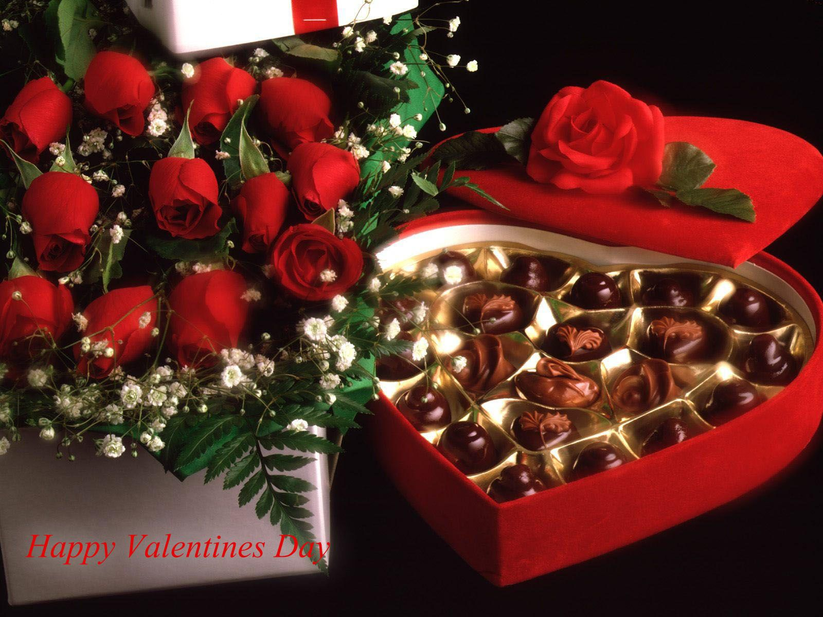 Traditional gifts include chocolates, candy, flowers, particularly red roses