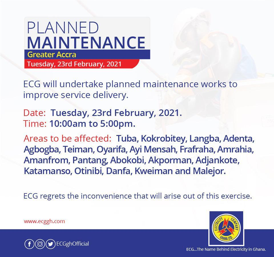 Power outage to hit parts of Accra, check out affected areas 2