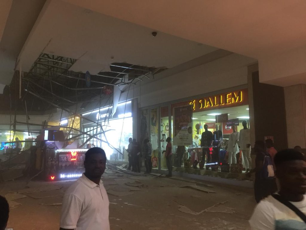 Video One Injured As Accra Mall Roof Collapses