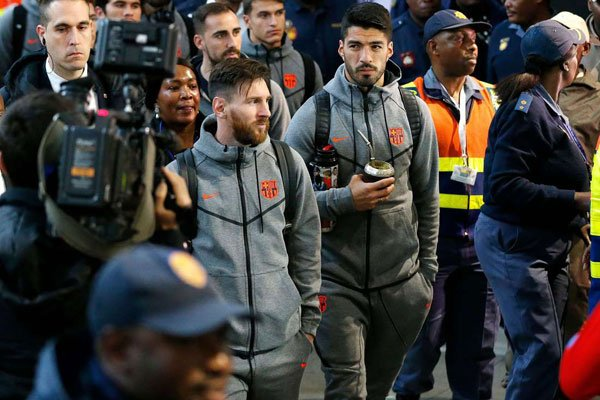 Lionel Messi and Luis Suarez were among some of the Barcelona stars in South Africa