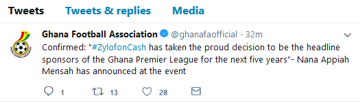 The GFA confirmed the deal on Twitter
