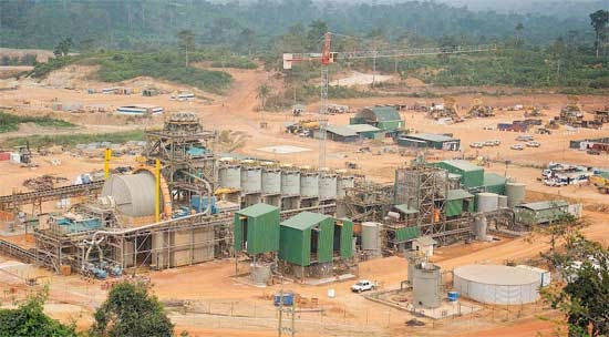 AngloGold Ashanti's mining concession at Obuasi