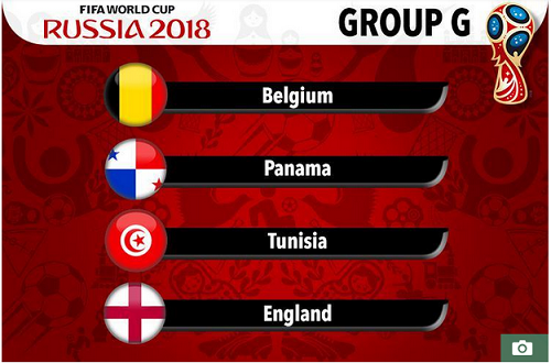 Tunisia are in Group G of Russia 2018