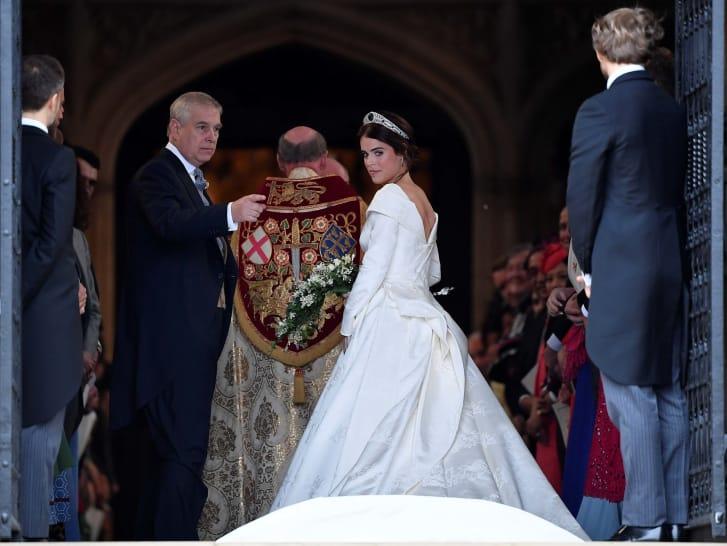 Princess Eugenie makes bold statement with wedding dress revealing ...